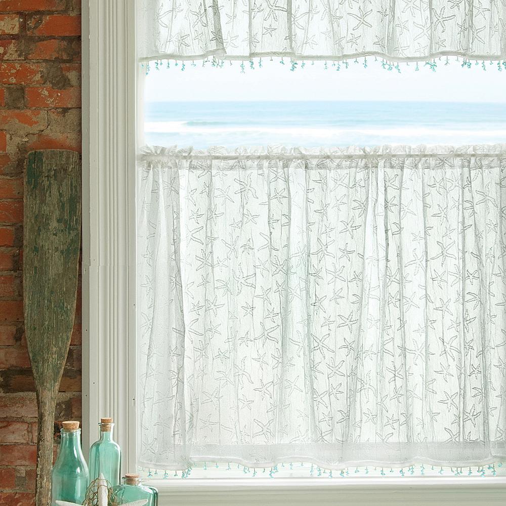 Starfish White Lace Door Panel