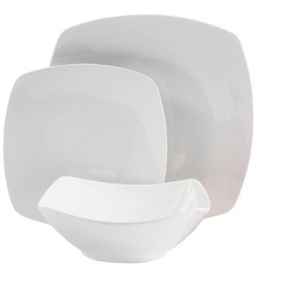 Zen Buffetware 12-Piece White Dinnerware Set