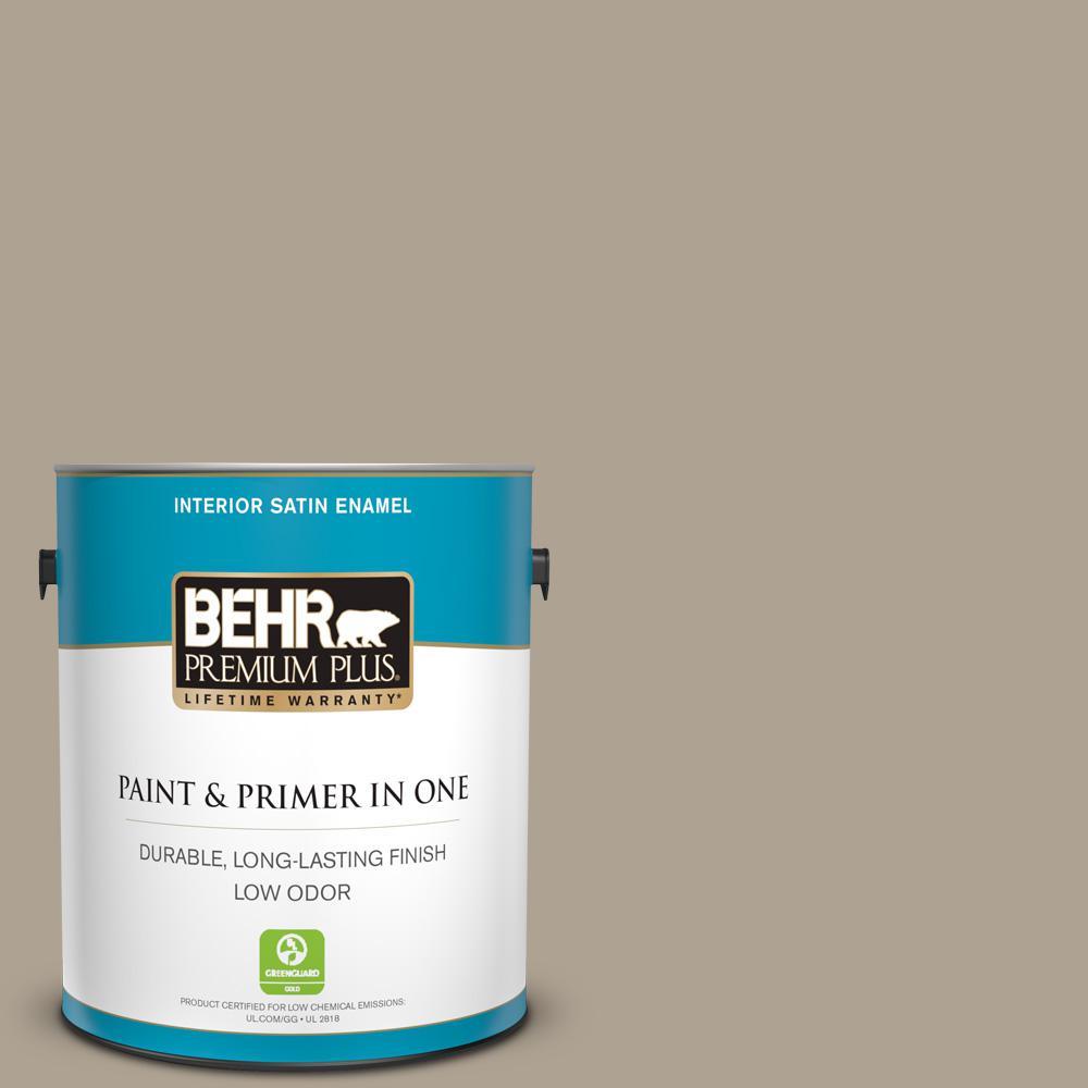Behr Premium Plus 1 Gal 730d 4 Garden Wall Satin Enamel Low Odor