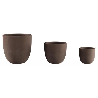 Brown Fiber Clay Tapered Planters (3-Pack)