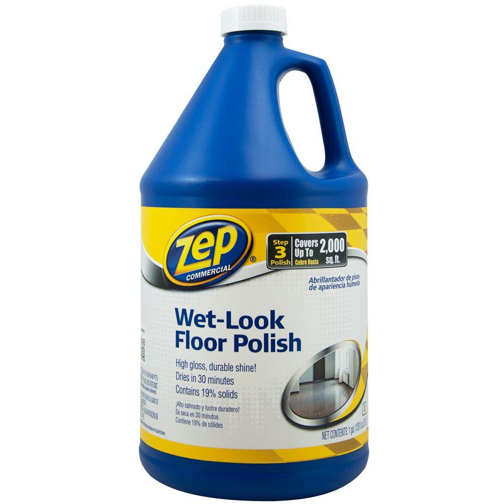 Zep 128 Oz Wet Look Floor Polish Zuwlff128 The Home Depot