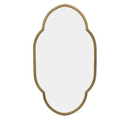 37 in. H x 21 in. W StyleWell Ornate Framed Gold Accent Mirror