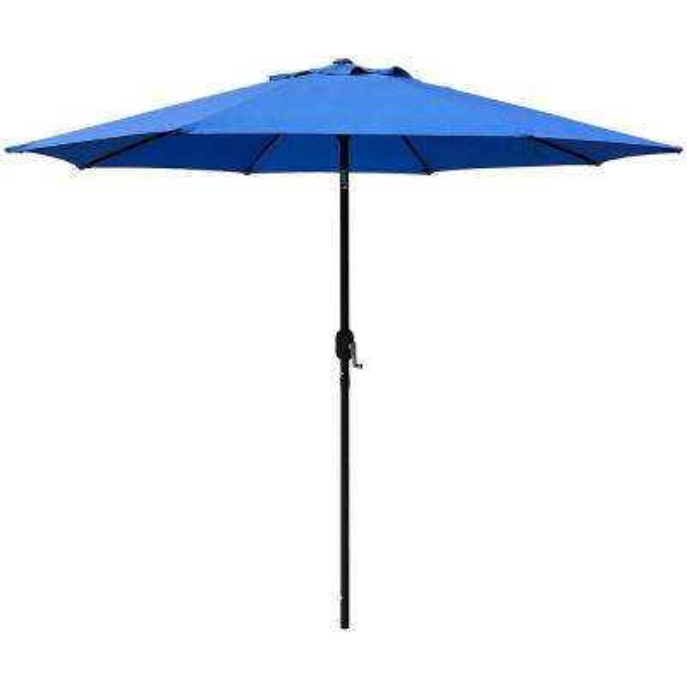 9 ft. Steel Crank and Tilt Market Patio Umbrella in Royal Blue
