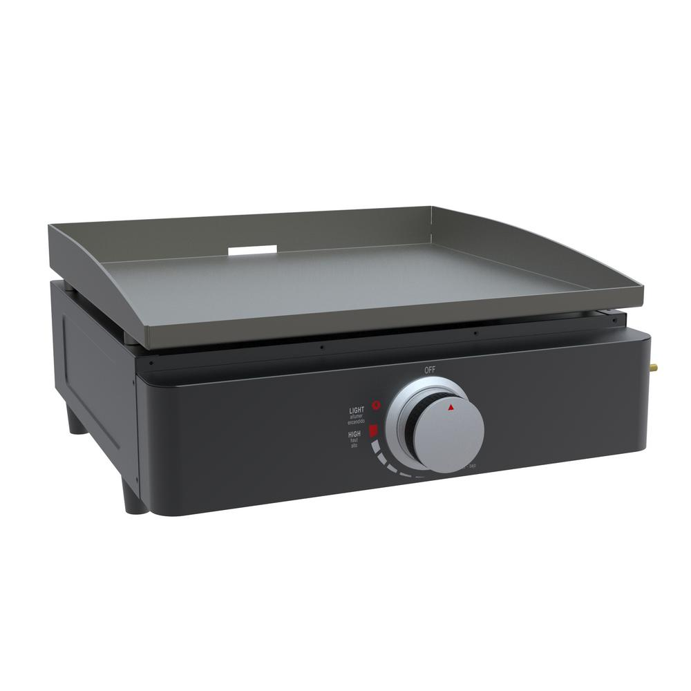 "Lifesmart Deen Brothers Series 17"" Propane Gas Hibachi Style 270 sq. in. Flat Top Griddle"