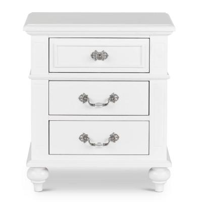 Annie 3-Drawer Nightstand in White