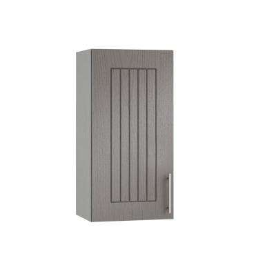 Assembled 18x30x12 in. Naples Open Back Outdoor Kitchen Wall Cabinet with 1 Door Left in Rustic Gray