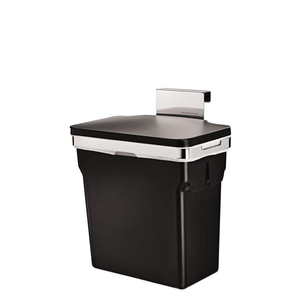 10-Liter Black In-Cabinet Trash Can