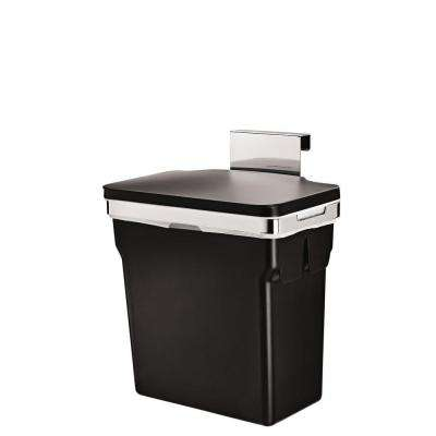 10-Liter Black In-Cabinet Trash Can