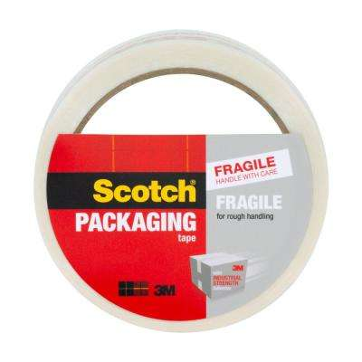 1.88 in. x 43.7 yds. (48 mm x 40 m) Fragile Handle with Care Printed Message Packaging Tape, White/Red