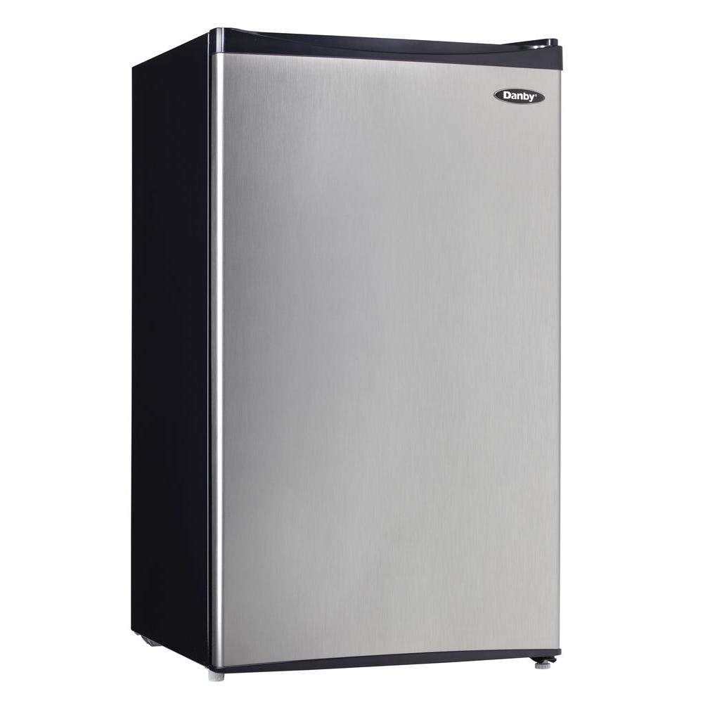 Danby 3.3 cu. ft. Mini Refrigerator in Spotless Steel