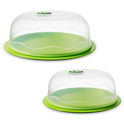INSTAVAC Ready-Serve Domed Food Storage Container, BPA-Free 4-Piece Nesting Set with Vacuum Seal