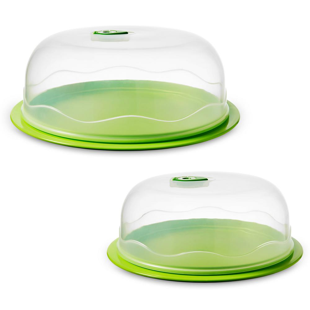 INSTAVAC Ready-Serve Domed Food Storage Container, BPA-Free 4-Piece Nesting Set