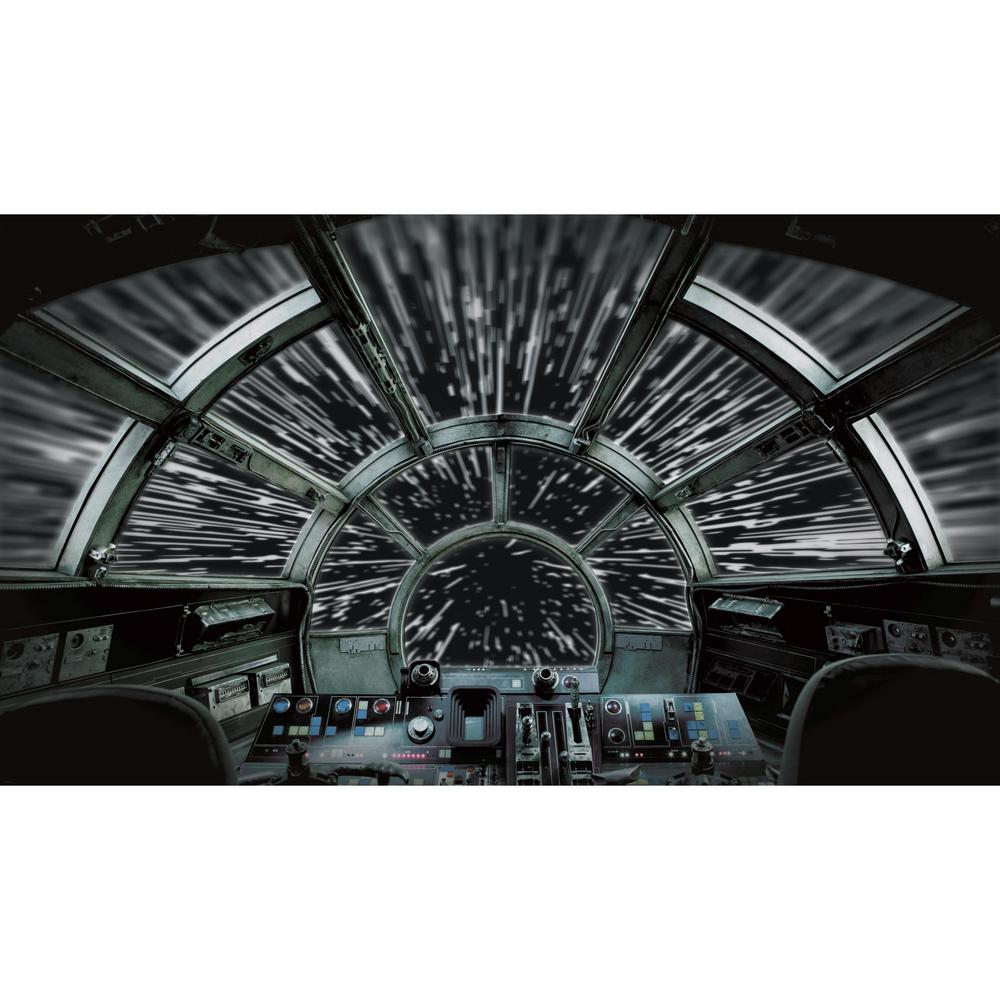 Roommates Star Wars Millennium Falcon Black Grey Vinyl Peelable Roll Covers 63 Sq Ft Rmk11458m The Home Depot