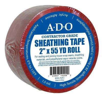2 in. x 55 yds. Red Sheathing Tape
