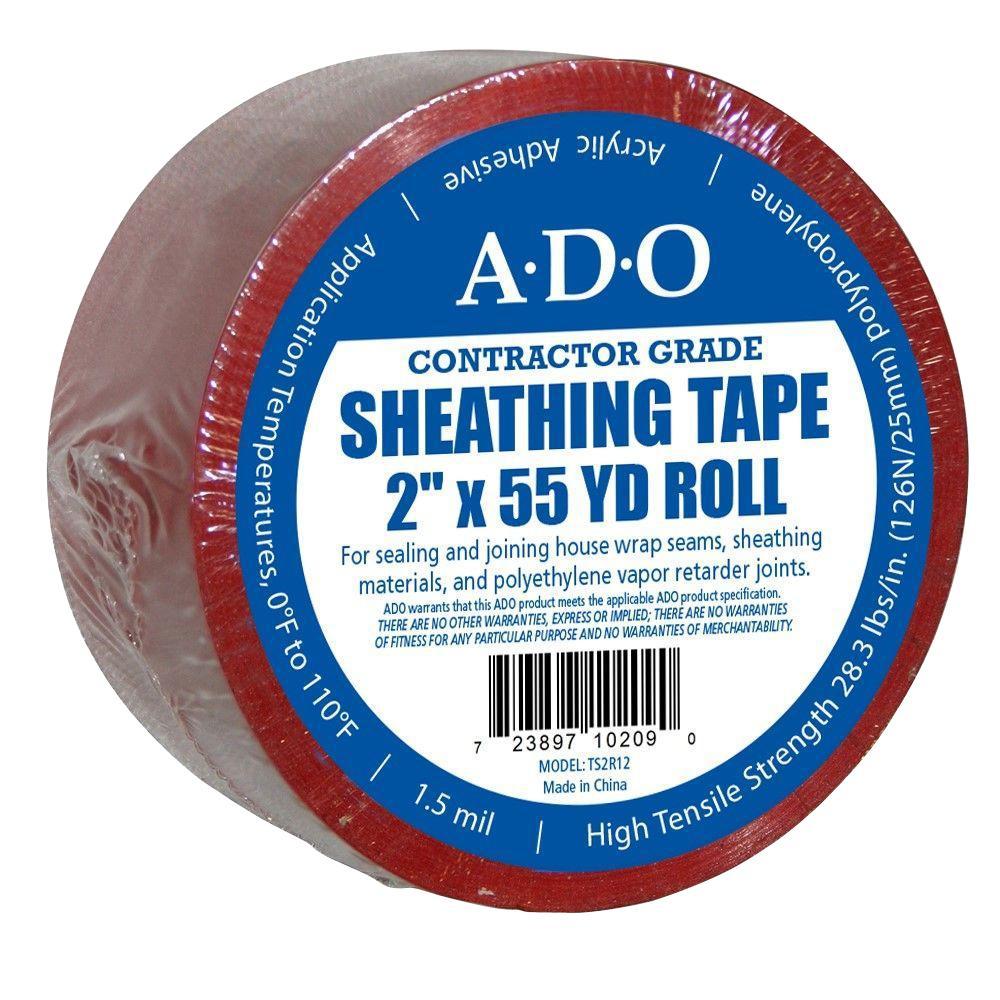 2 in. x 55 yds. Red Sheathing Tape