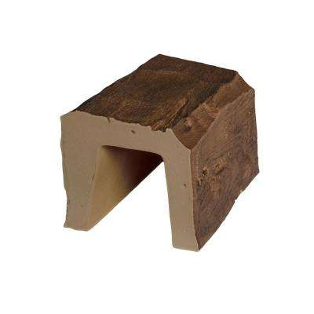 5 in. x 5 in. x 6 in. L Medium Oak Hand Hewn Faux Wood Beam Sample