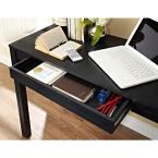 Altra Furniture Parsons Style Flip-Up Desk with Drawer in Black Oak