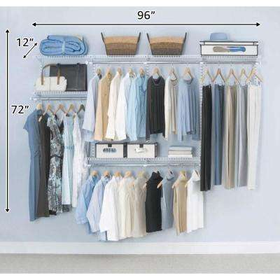 Configurations Custom Closet 4 - 8 ft. White Deluxe Kit