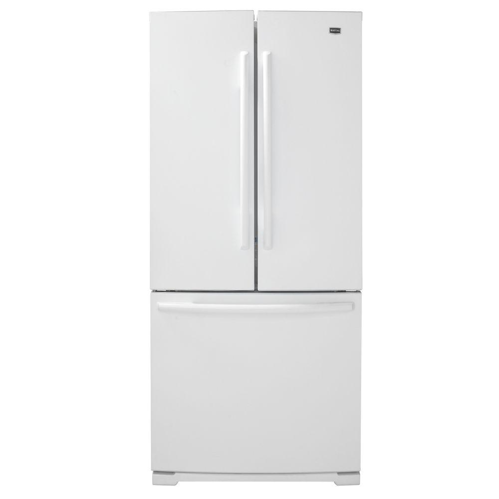 Maytag 30 in. W 19.6 cu. ft. French Door Refrigerator in White