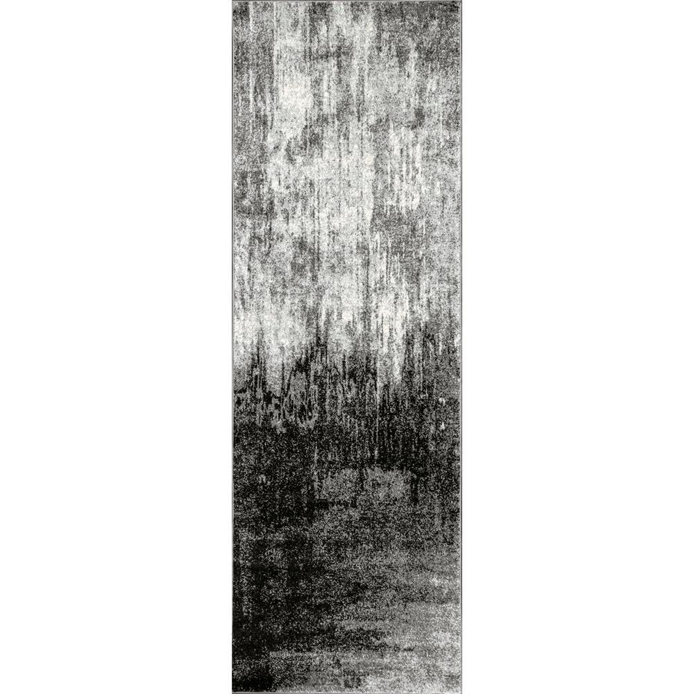 Nuloom Alayna Abstract Black 3 Ft X 8 Ft Runner Rzbd51c 2808 The Home Depot