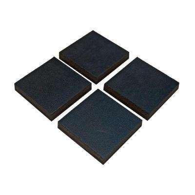 4 in. x 4 in. x 3/4 in. Black Utility Control Pads in Black (4 per Pack)