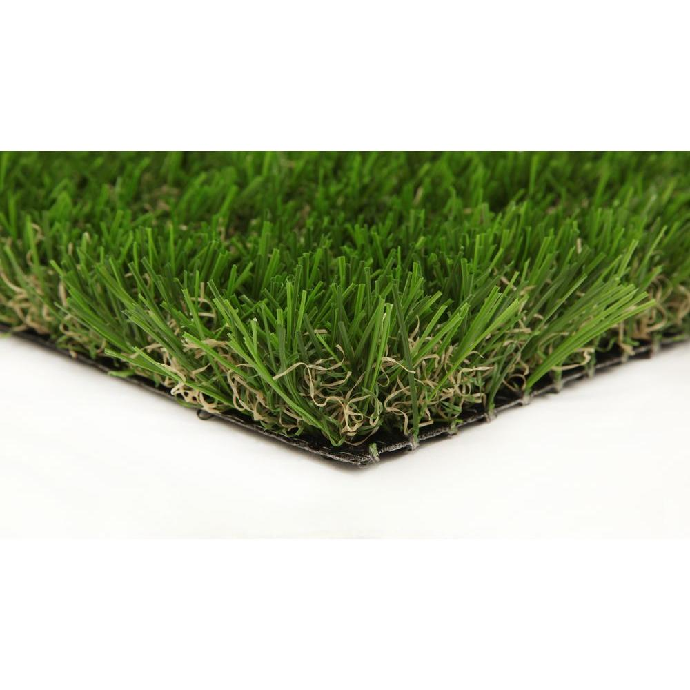 GREENLINE Classic 54 Spring 15 ft. x 25 ft. Artificial Synthetic Lawn Turf Grass Carpet for Outdoor Landscape