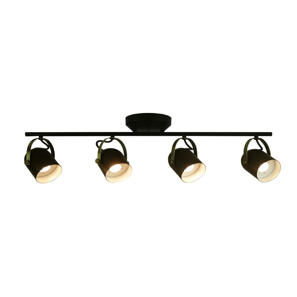 2 Ft Track Lighting Kit: Monteaux Lighting 2.6 Ft. Black And Antique Brass