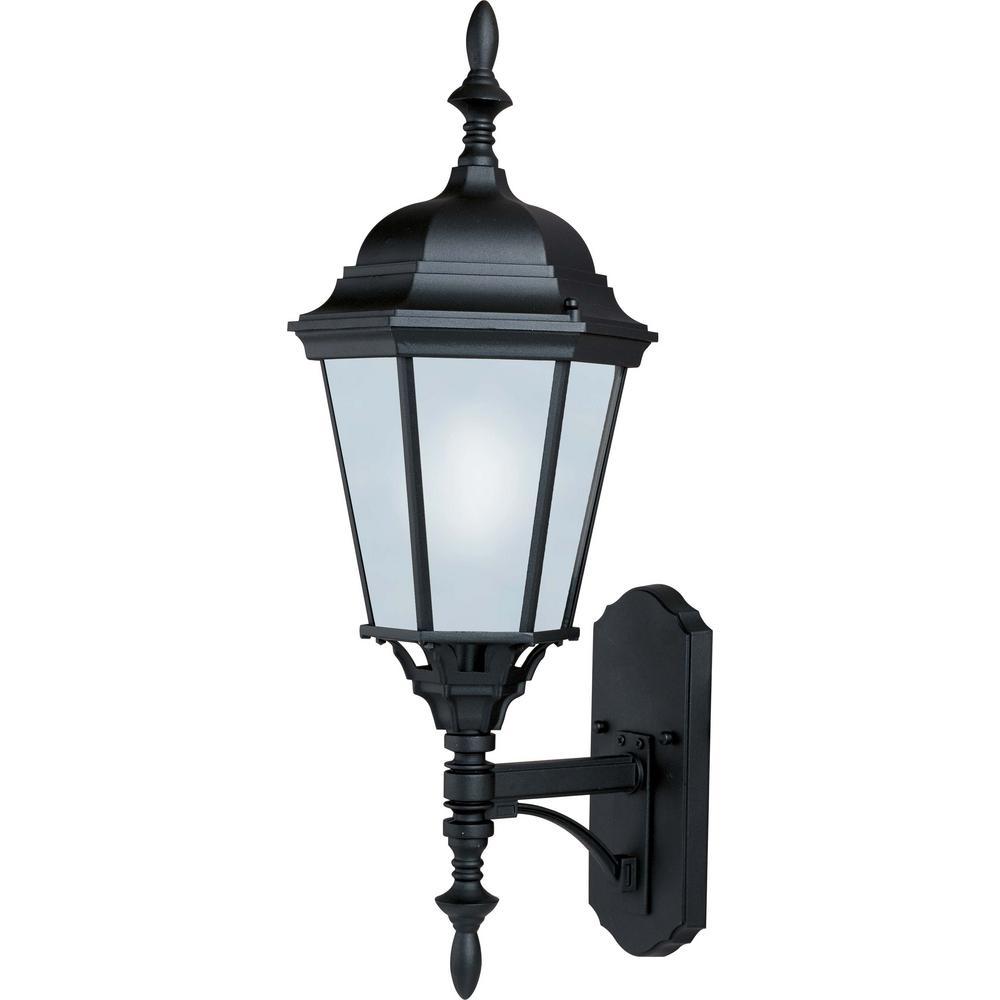 Westlake 9.5 in. W 1-Light Black Outdoor Wall Lantern Sconce