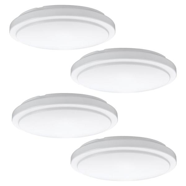 20 in. Round LED Flush Mount Ceiling Light 2200 Lumens 4000K Bright White Dimmable (4-Pack)