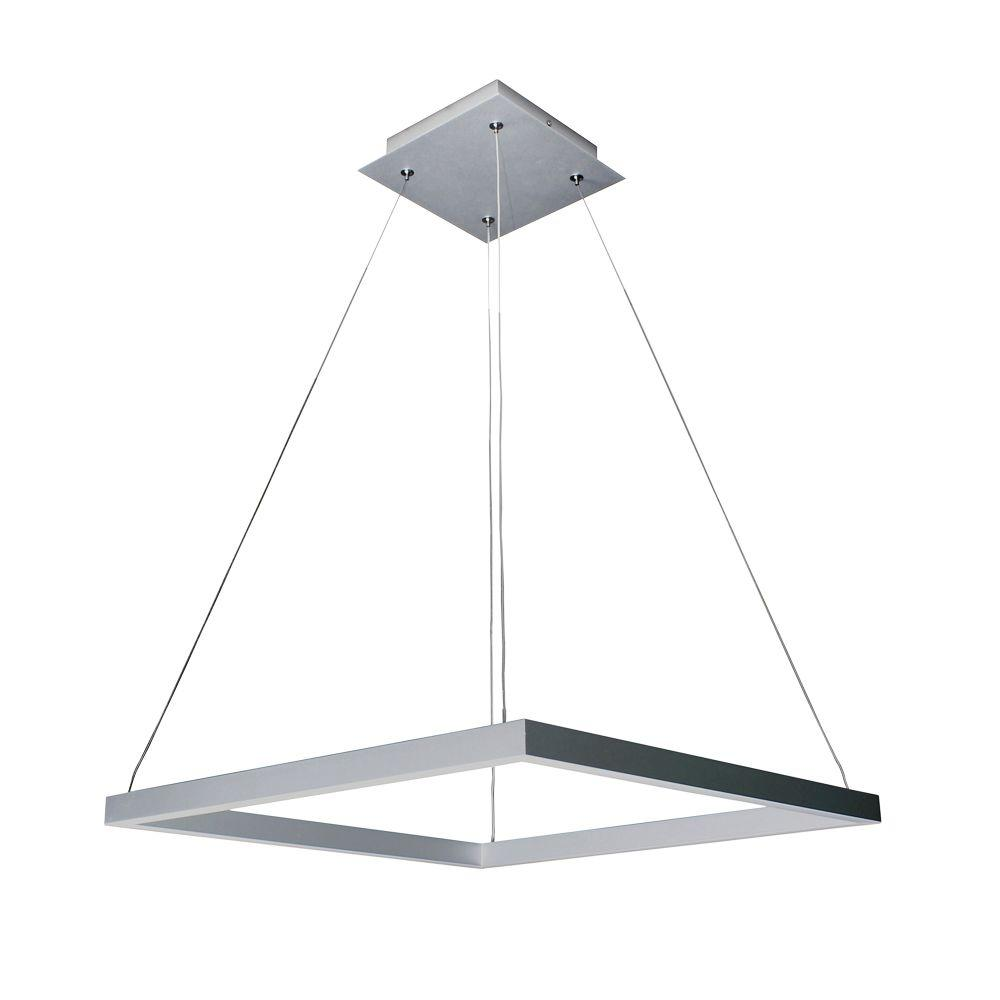 Square Light Fixtures: VONN Lighting 38W Atria Collection 20 In. Silver