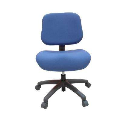 Blue Fabric Adjustable Office Chair