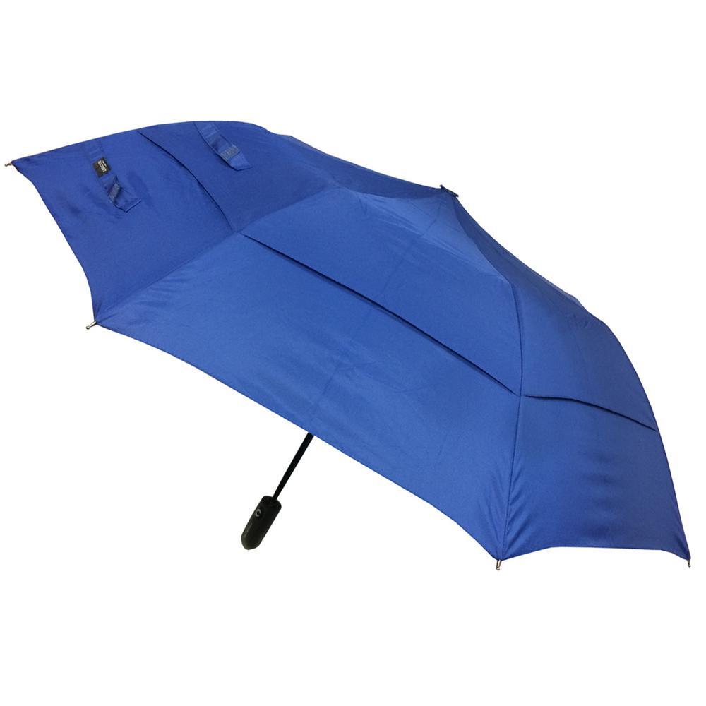 46 in. Arc Windguard Auto Open Auto Close Sport Umbrella in Navy