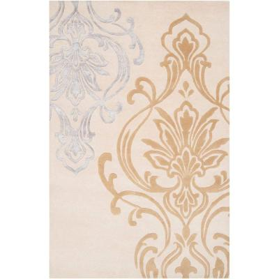 Candice Olson Winter White 9 ft. x 13 ft. Area Rug