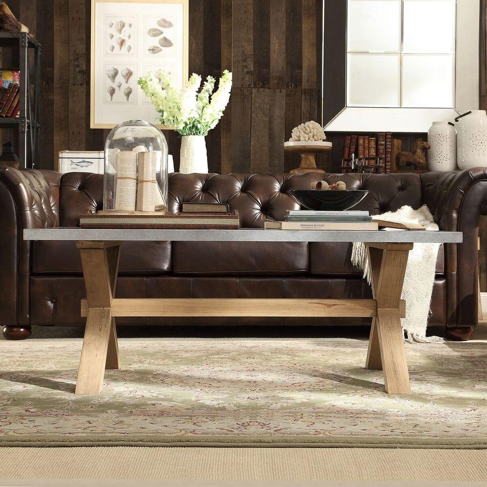 Homesullivan Upton Light Oak Coffee Table 405100 303a