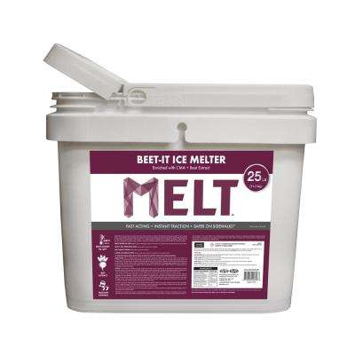 MELT Beet-It 25 lb. Ice Melter with CMA and Beet Extract Bucket