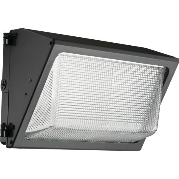 Contractor Select TWR 350-Watt Equivalent 3450 Lumens Integrated LED Dark Bronze Wall Pack Light 4000K