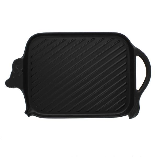 Chasseur 15 in. French Cast Iron Cow-Shaped Grill Pan