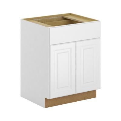 Madison Assembled 27x34.5x24 in. Base Cabinet with Soft Close Drawer in Warm White