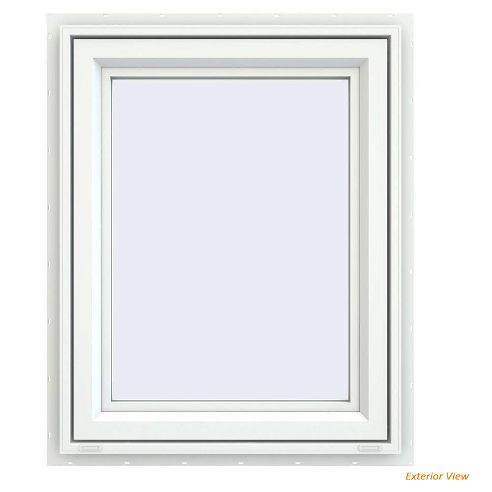 23.5 in. x 29.5 in. V-4500 Series White Vinyl Right-Handed Casement