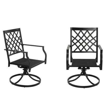 E-coating Metal Outdoor Swivel Rocking Chair with Beige Cushion
