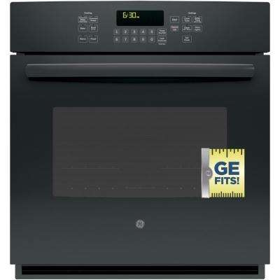 27 in. Single Electric Wall Oven Self-Cleaning with Steam Plus Convection in Black