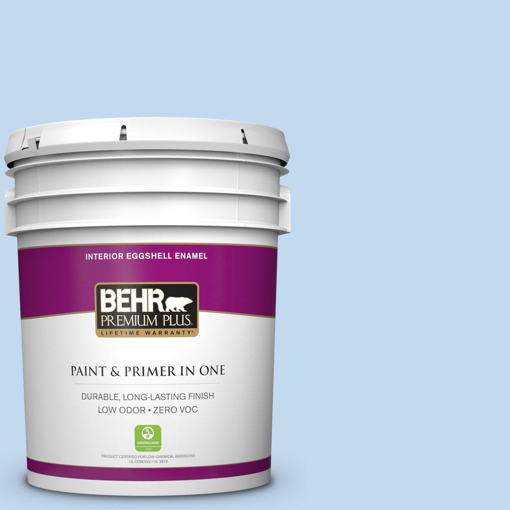 BEHR Premium Plus 5-gal. #560A-2 Morning Breeze Zero VOC Eggshell Enamel Interior Paint