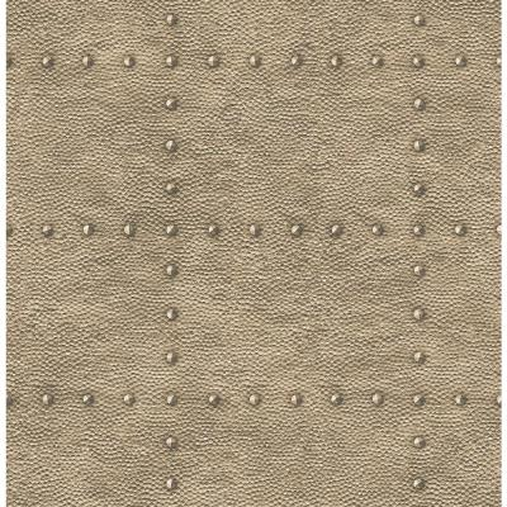 56.4  sq. ft. Goldberg Brown Hammered Metal Wallpaper
