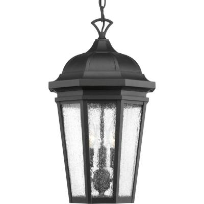Verdae Collection 3-Light Outdoor Black Hanging Lantern