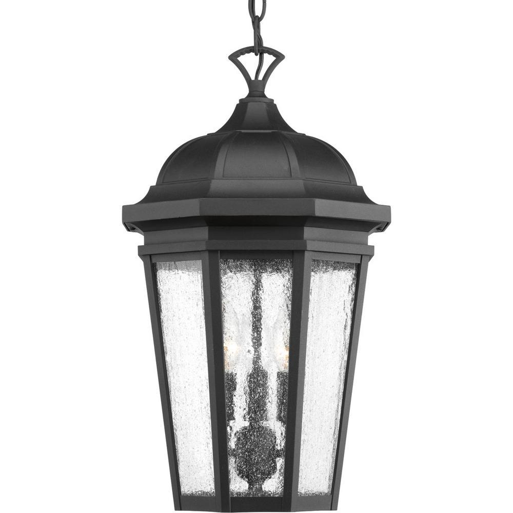 Verdae Collection 3-Light Outdoor Black Hanging Lantern