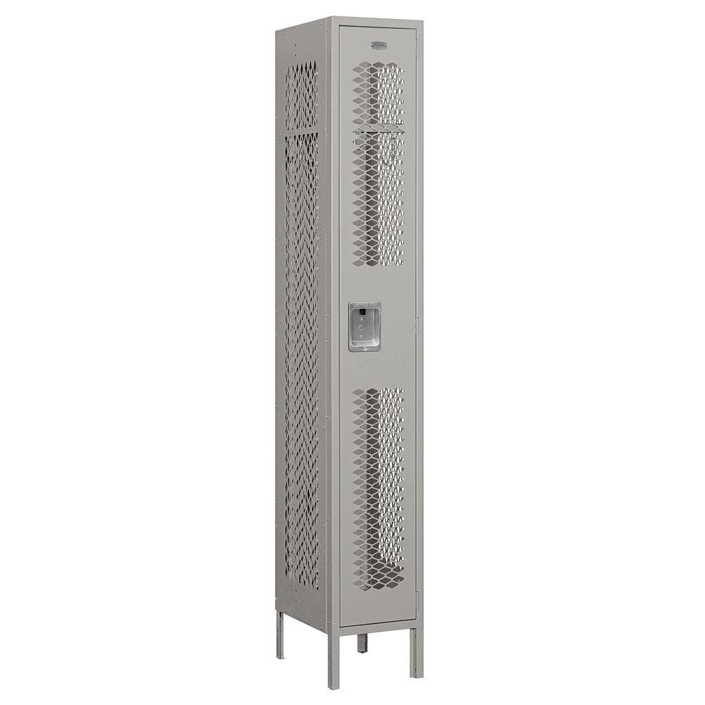 Salsbury Industries 71000 Series 12 in. W x 78 in. H x 15 in. D Single Tier Vented Metal Locker Assembled in Gray