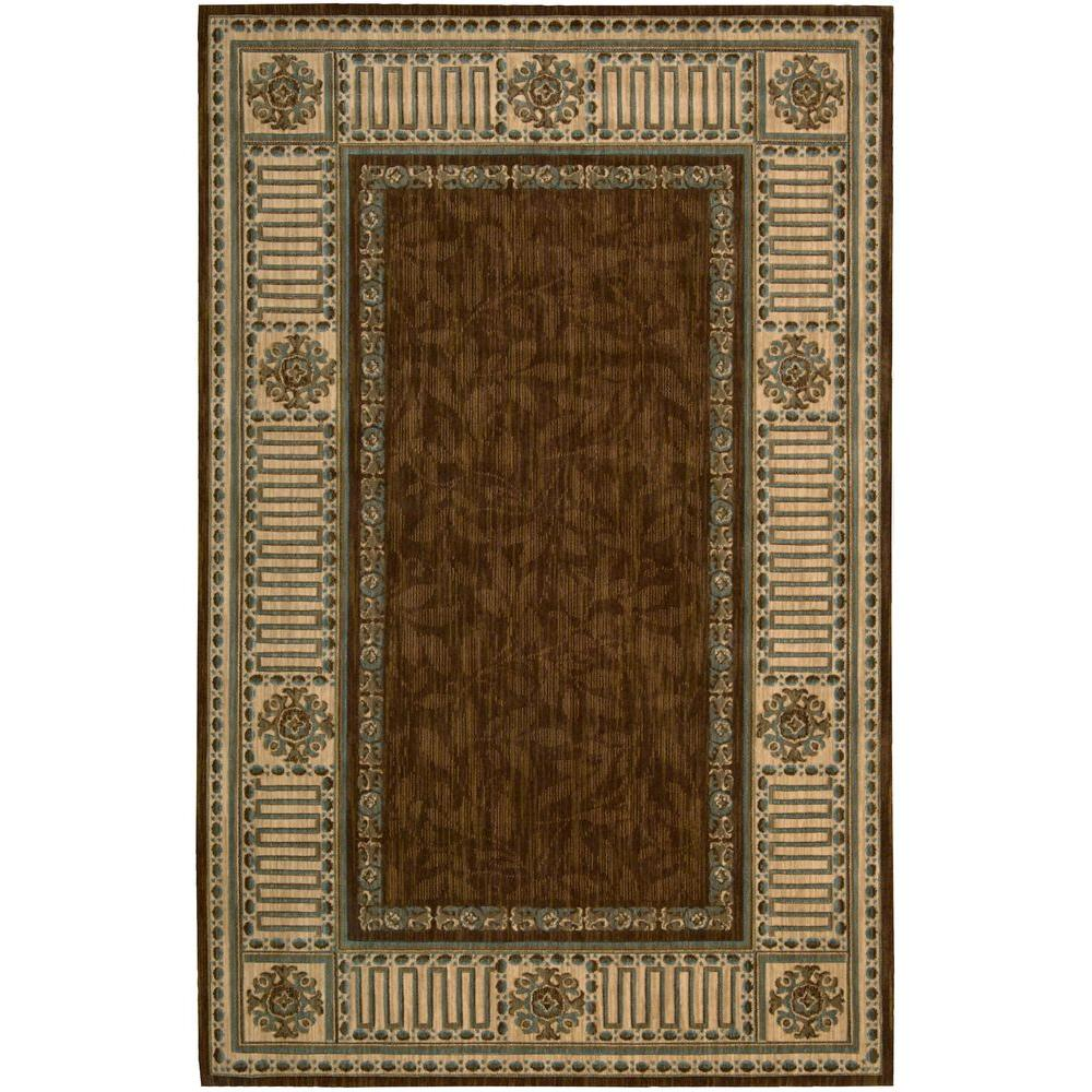 Nourison Vallencierre Brown 5 ft. 3 in. x 8 ft. 3 in. Area Rug