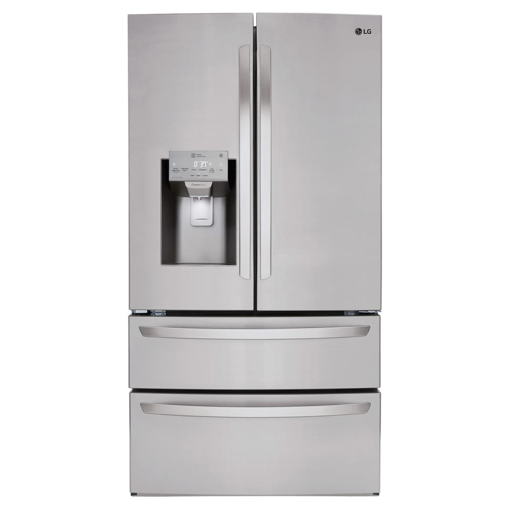 LG Electronics 27.8 cu. ft. French Door Smart Refrigerator in ...