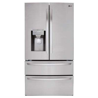 27.8 cu. ft. French Door Smart Refrigerator with WiFi Enabled in Stainless Steel