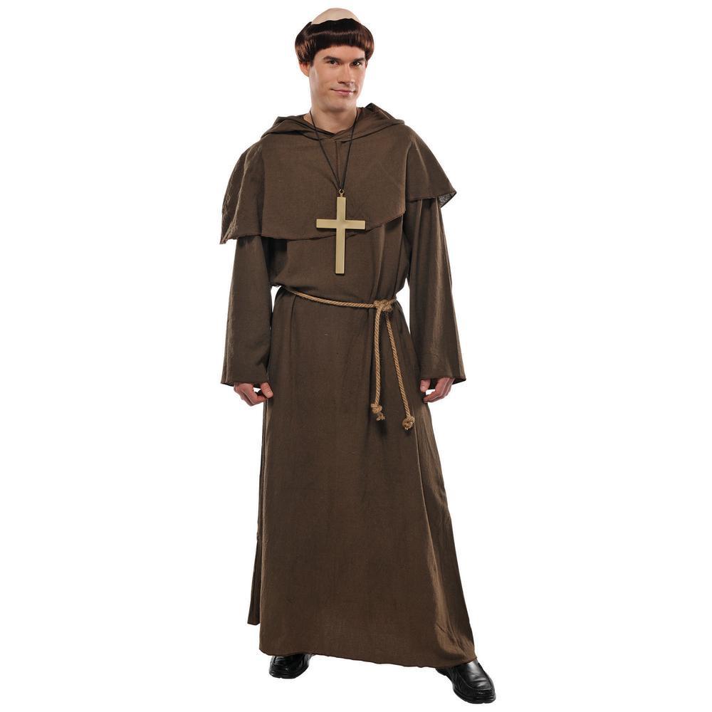 Medieval Friar Men's Halloween Costume Standard